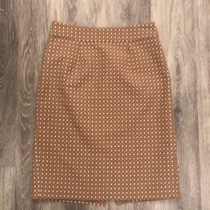 Banana Republic beige white pencil skirt size 2